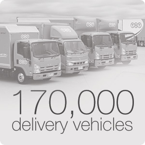170,000 delivery vehicles